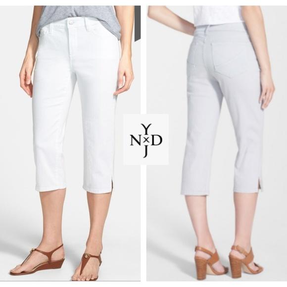 NYDJ Denim - NWT~$89~NYDJ~White HAYDEN Capri Crop Jeans~2P